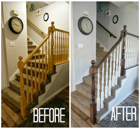 how to stain wood banister two points for honesty refinishing oak stair railings