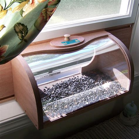 window box bird feeder shop coveside conservation bread box wood window bird