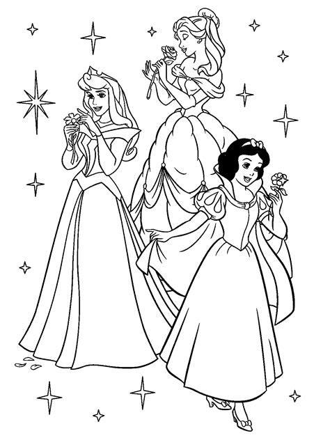 Free Coloring Princess Pages free printable disney princess coloring pages for