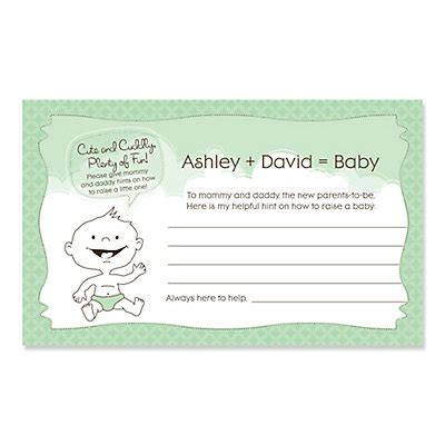 baby advice for baby shower baby neutral personalized baby shower helpful hint