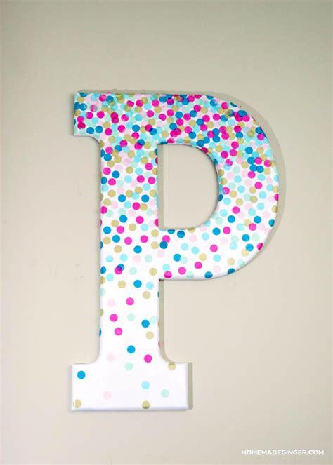 Letter A Decor by Confetti Decorative Letters For Wall Decor Mod Podge Rocks
