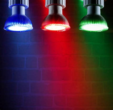red and green light bulbs 4w coloured narrow beam led gu10 light red green