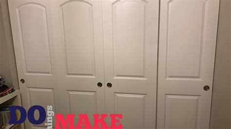 Diy Sliding Closet Doors Easy Do It Yourself Youtube Sliding Closet Doors Diy