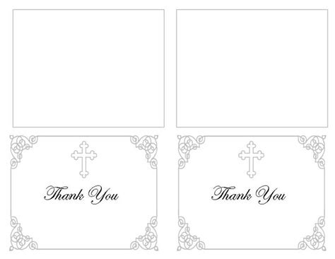 template funeral thank you cards funeral thank you card templates grey ornate cross