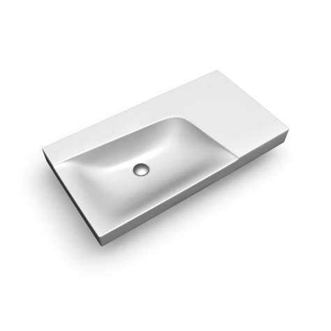 Planner 3d xeno2 wash basin 900mm right shelf w out t h design