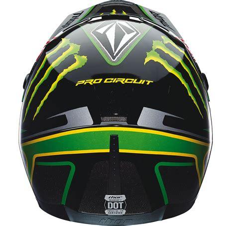 monster energy motocross helmet for sale thor quadrant s14 pro circuit black green motocross helmet