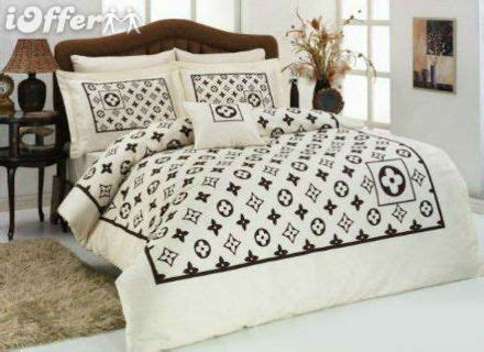 005 louis vuitton 6pcs authentic luxury bed set satin made