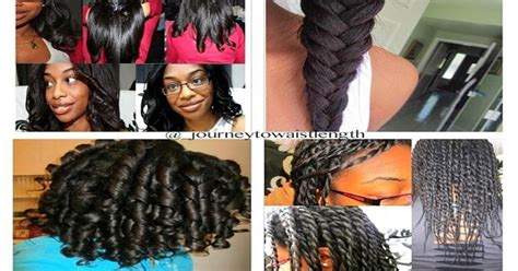 Hairstyles For Transitioning From Relaxed To Hair by Journey To Waist Length 10 Different Hairstyles