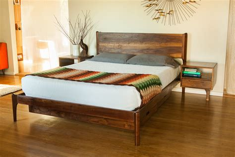 danish bed classic modern bed with storage and attached night stands