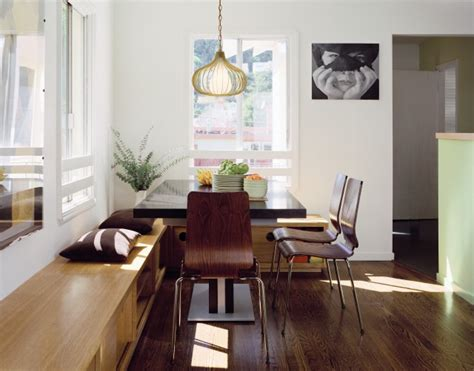 dining room with bench dining room with custom storage bench modern dining