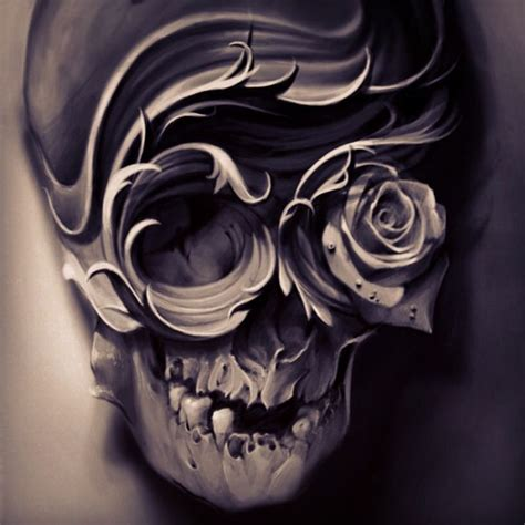skull artwork sugar pinterest totenk 246 pfe rose und