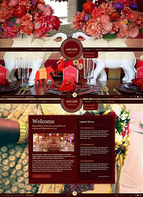 templates for indian wedding website indian wedding html5 template id 300111725