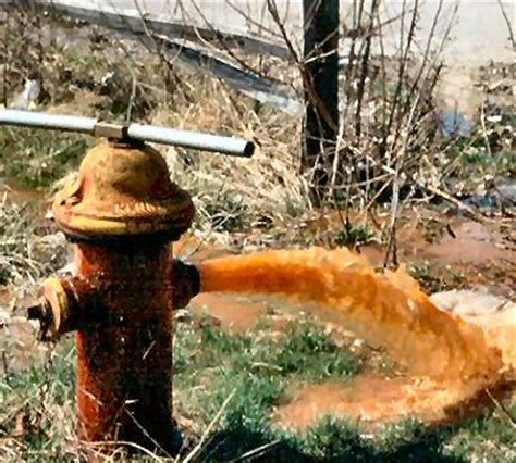 Rusty Water Hydrant Flushing Program Template