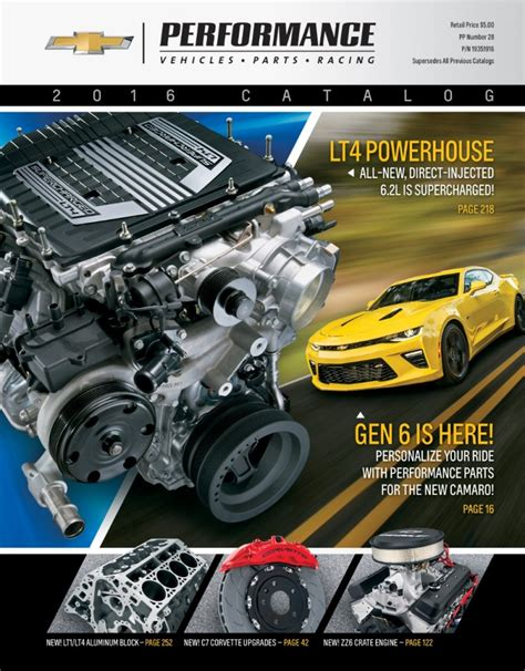 performance chevrolet parts 2016 chevrolet performance catalog released gm authority