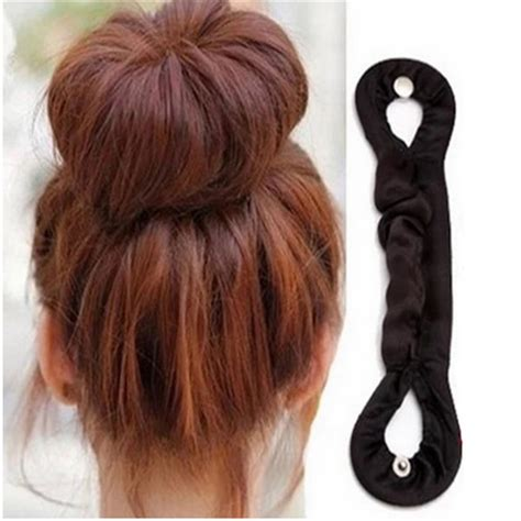 twist holder clip bun hair twist braid tool set of 2 1pc diy women magic twist bun roller hair braider braid