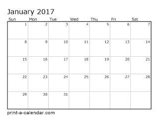 Printable Calendar 2017 Per Month | four month calendars per page calendar template 2016