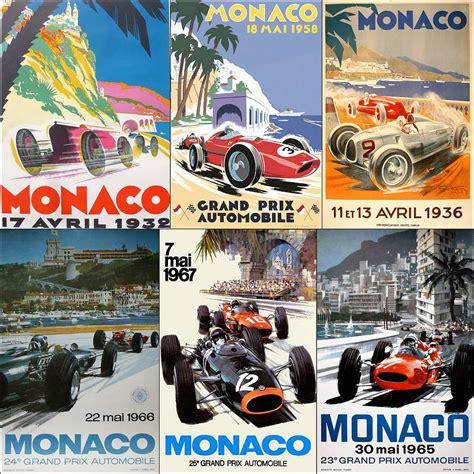 1325268909 art automobile a monaco monaco f1 grand prix vintage poster collage photograph by