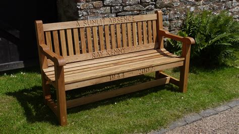 engraved benches engraved bench set the wooden workshop oakford devon