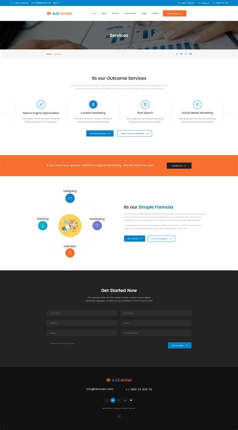 themeforest digital marketing adcenter digital marketing psd template by ifathemes