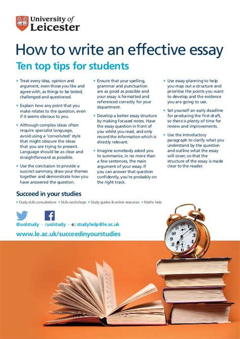 Tips On How To Write An Essay by How To Write An Effective Essay Ten Top Tips For Students
