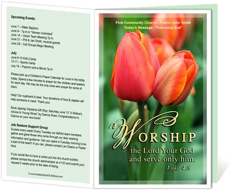 worship bulletin template 29 best images about faith church of god on