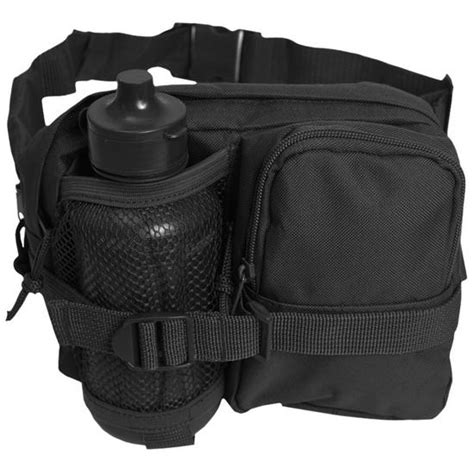 g tech hydration mil tec waist bag with canteen black water hydration