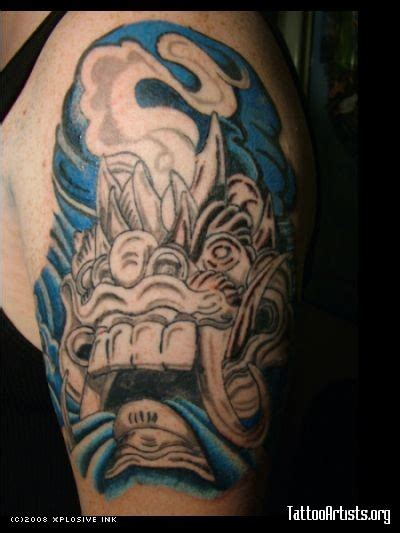 bali mask tattoos bali mask almost done tattoo picture