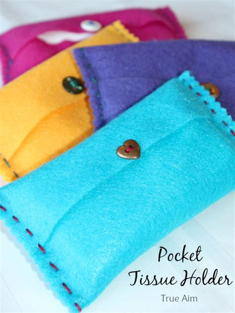 easy felt crafts for diy felt pocket kleenex tissue holders the
