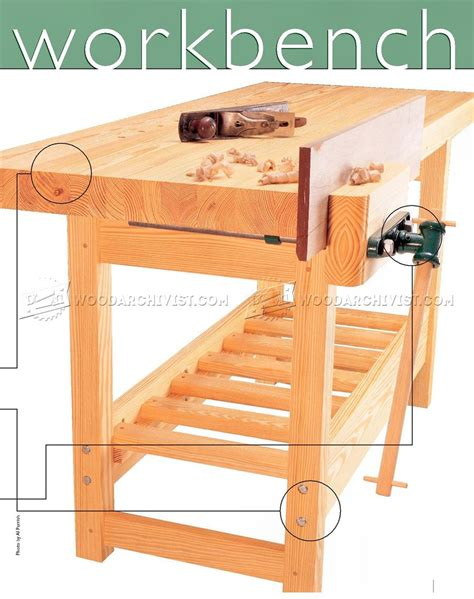 plans for wooden work bench wood workbench plan woodarchivist