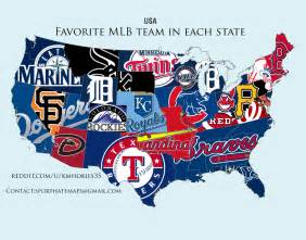 most popular mlb team by state sideleague