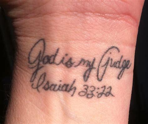 dana tattoo wrist scripture verse isaiah 33 22 damber