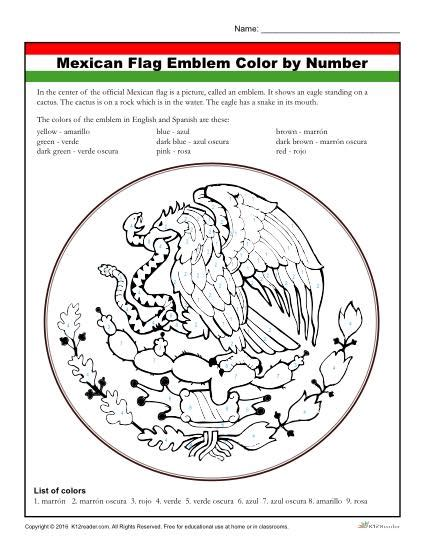 mexico flag coloring page with key mexican flag coloring activity worksheet for kids