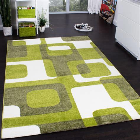 teppiche retro designer rug woven trendy retro style green grey