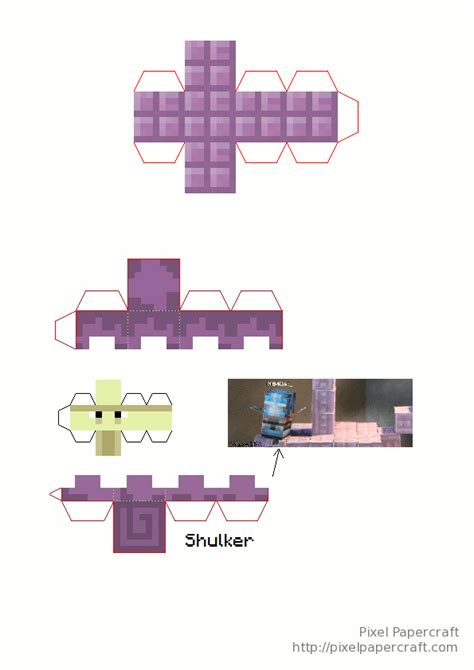 Minecraft Papercraft Minis - papercraft mini end ship minecraft