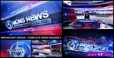 Broadcast Design Complete News Package 5 After Effects Project Videohive 187 Free After Broadcast After Effects Template