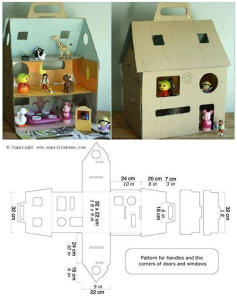 cardboard box doll house munchkins and mayhem