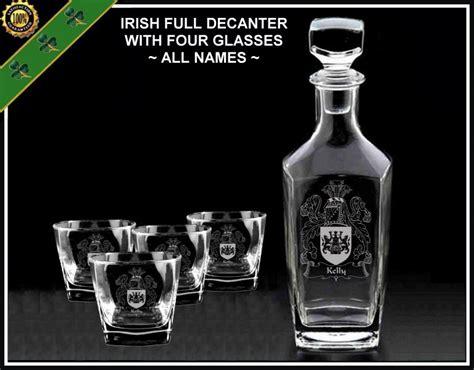irish barware irish coat of arms glassware