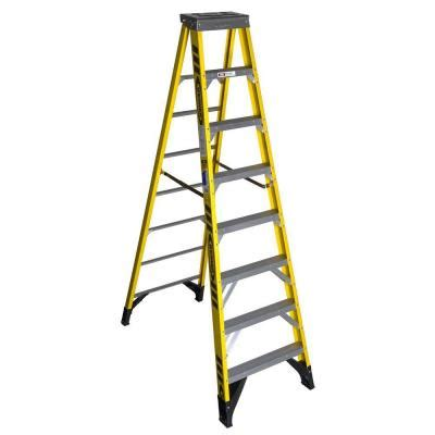 werner 10 ft fiberglass step ladder with 375 lb load