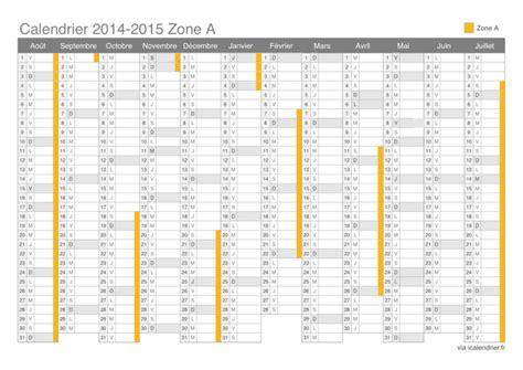 Calendrier Des Vacances 2014 Vacances Scolaires 2015 2016 Zone A Calendrier Et Dates