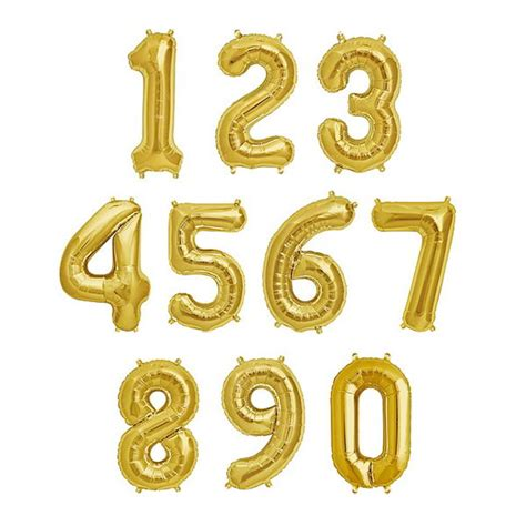 Number Balloon 40 inch gold number foil balloons 0 9 from