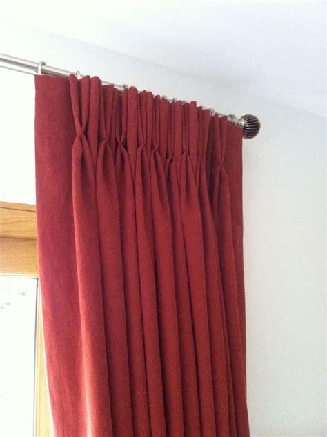 double pleat curtains double pleat curtains in red pinch pleat elegance