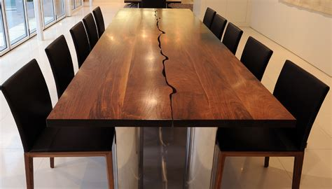 Modern natural wood dining table modern wood slab dining table modern