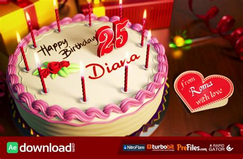 after effect birthday template happy birthday videohive template free free