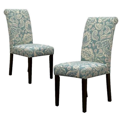 Upholstered Kitchen Chairs new blue 2 dining chair set chairs furniture home decor