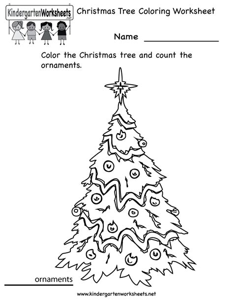 Excellent Christmas Tree Coloring Worksheet Printable Tree Math Coloring Page