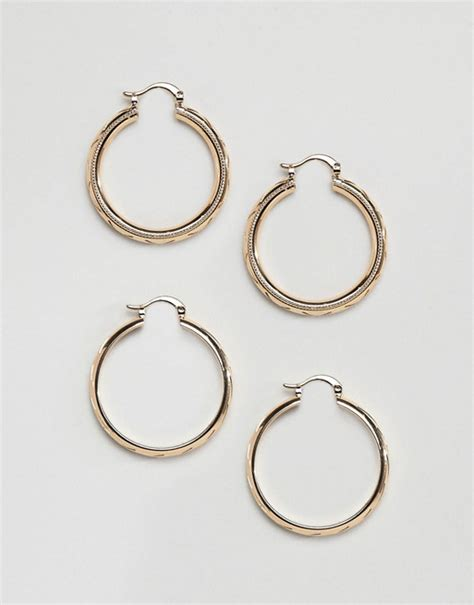 Asos Hoop Earring Pack asos design asos design pack of 2 hoop earrings in