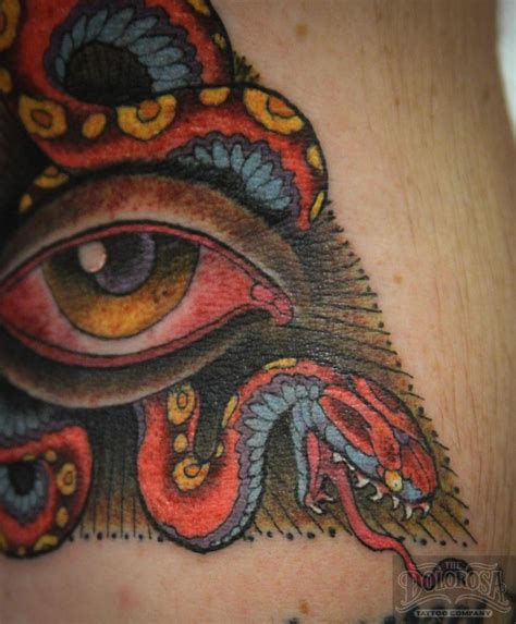 snake eyes tattoo ink