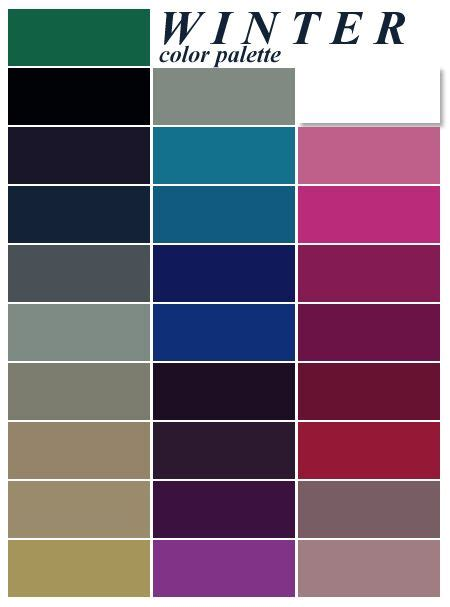 winter color palette 25 best ideas about winter color palettes on