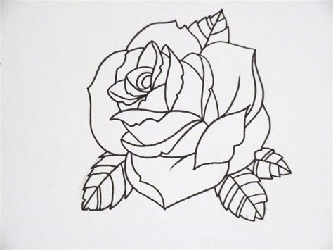 simple rose tattoo outline outline 3 another joseph potter flickr