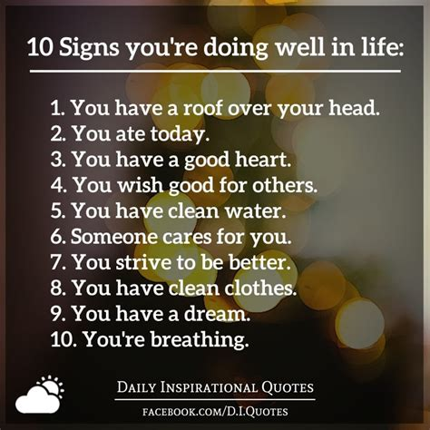 quotes about doing better 10 signs you re doing well in 1 you a roof